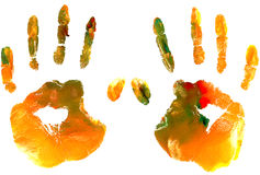 Colourful handprint Stock Photo