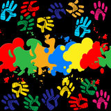 Colourful Handprints Indicates Color Colors And Backgrounds Royalty Free Stock Photo