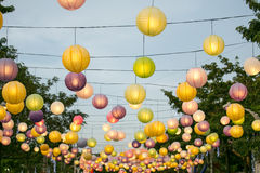 Colourful Hanging Lantern. Along The Road royalty free stock photography