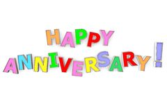 Colourful Happy Anniversary stock illustration