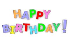 Colourful Happy Birthday Royalty Free Stock Photography