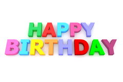 Colourful Happy Birthday Stock Photography