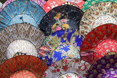 Colourful Hats. Thai style, different designs Stock Images