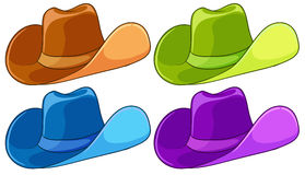 Colourful headgears Royalty Free Stock Images