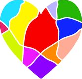 Colourful Heart Royalty Free Stock Photo
