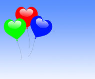 Colourful Heart Balloons Mean Valentines Day. Colourful Heart Balloons Meaning Valentines Day Ball Or Party Royalty Free Stock Photos