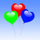 Colourful Heart Balloons Show Wedding Feast Royalty Free Stock Photography