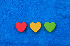 Colourful hearts Stock Image