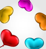 Colourful hearts balloons isolated on white backgr. Illustration colourful hearts balloons isolated on white background - vector Stock Photography