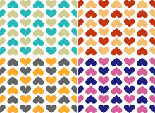 Colourful hearts pattern Stock Photos