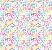Colourful hearts seamless pattern. royalty free illustration