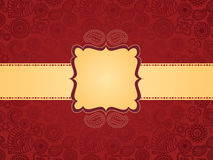Colourful Henna background, with banner Royalty Free Stock Images