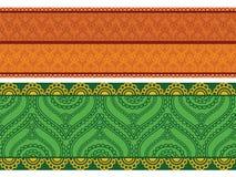 Colourful Henna Borders Royalty Free Stock Photos