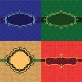Colourful Henna Frames Stock Photos