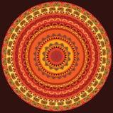Colourful Henna Mandala Stock Photo