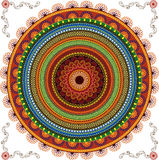 Colourful Henna Mandala Background Royalty Free Stock Photos