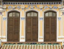 Colourful Heritage Windows, George Town, Penang, Malaysia Royalty Free Stock Photo