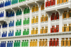 Colourful Heritage Windows, Singapore Royalty Free Stock Photos