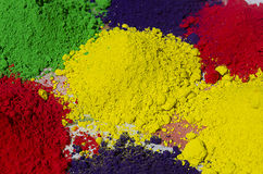 Colourful Holi Powders Stock Photography