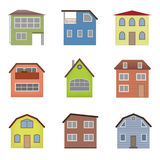 Colourful home icon collection Stock Photo