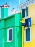Colourful homes of Burano, Italy.  Royalty Free Stock Image