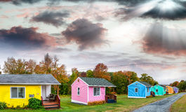 Colourful homes of New England Royalty Free Stock Images