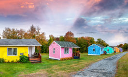 Colourful homes of New England Stock Photography