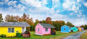 Colourful homes of New England Royalty Free Stock Image