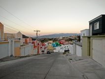 Colourful homes. This a street with colourful homes in Honduras Stock Image