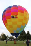 Colourful hot air balloon Stock Photos