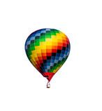Colourful hot-air balloon isolated Royalty Free Stock Photography