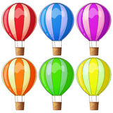 Colourful hot-air balloons Royalty Free Stock Image