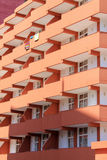 Colourful Hotel Balconies Royalty Free Stock Images