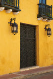 Colourful House in Cartagena de Indias Royalty Free Stock Photos