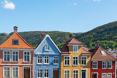 Colourful house facades Stock Images