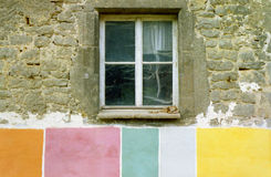 Colourful house-front. In Dornburg, Germany Royalty Free Stock Image