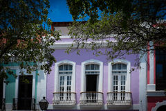 Colourful house  in Old San Juan Puerto Rico Stock Images