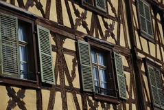 Colourful house in Riquewihr Stock Photo
