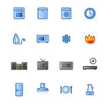 Colourful household goods icon Stock Photos