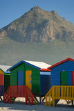 Colourful houses 1. At the beach, Muisenberg, South Africa Stock Images