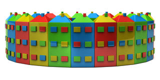 Colourful houses Stock Photography