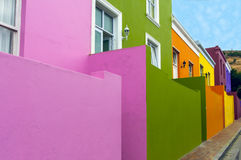 Colourful Houses. In the Bo Kaap district in Cape Town, South Africa Royalty Free Stock Photography