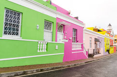 Colourful Houses in Bo-Kaap – Cape Town, South Africa Stock Image