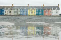 Colourful Houses in Borth. Some of the colourful houses found in the small coastal village of Borth, Wales royalty free stock images
