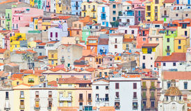 Colourful houses of Bosa Stock Images