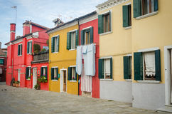 Colourful houses of Burano Stock Photography
