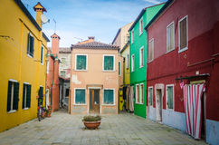 Colourful houses of Burano Stock Image
