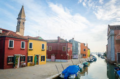 Colourful houses of Burano Royalty Free Stock Photography