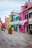 Colourful houses of Burano Stock Photos