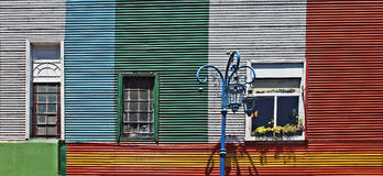 Colourful houses in Caminito, La Boca. Colourful houses in Buenos Aires, Argentina Stock Photo